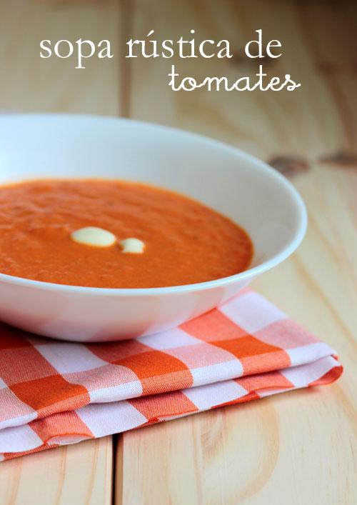 sopa rústica de tomates